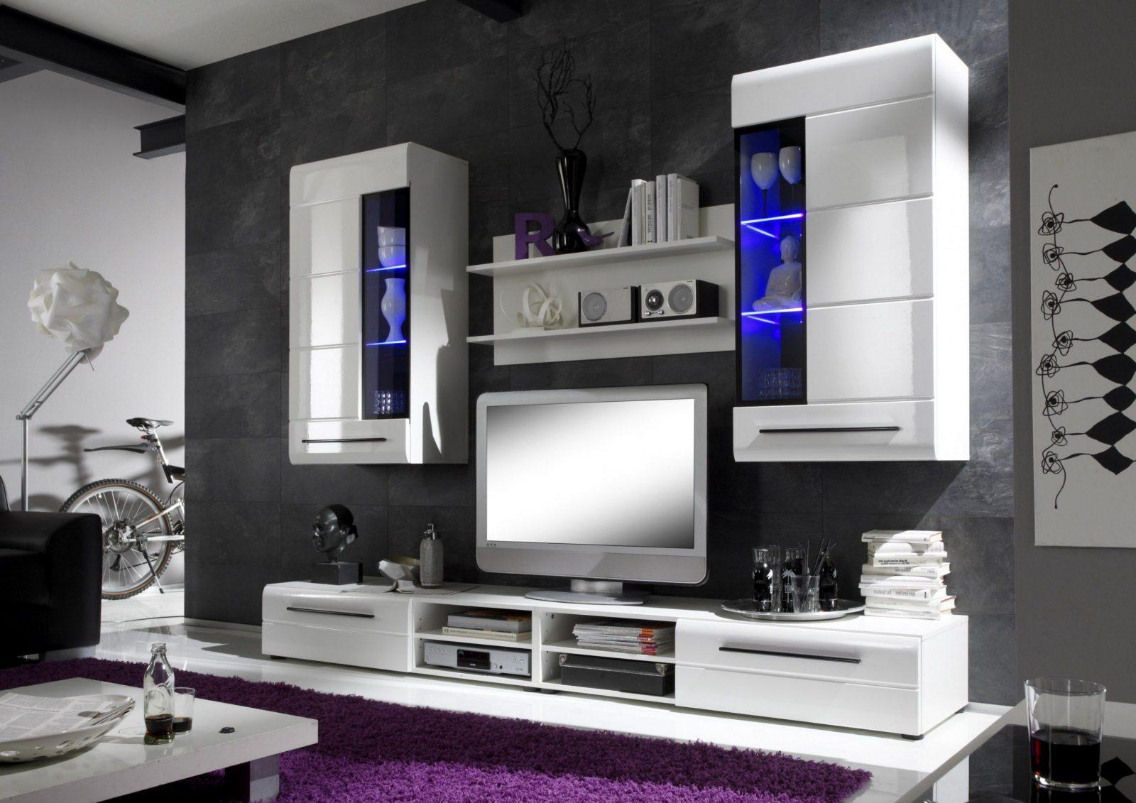Inspirierend Wohnwand Weiß Schwarz Hochglanz Zum Wohnwand Schwarz von Wohnwand Hochglanz Weiß Schwarz Bild