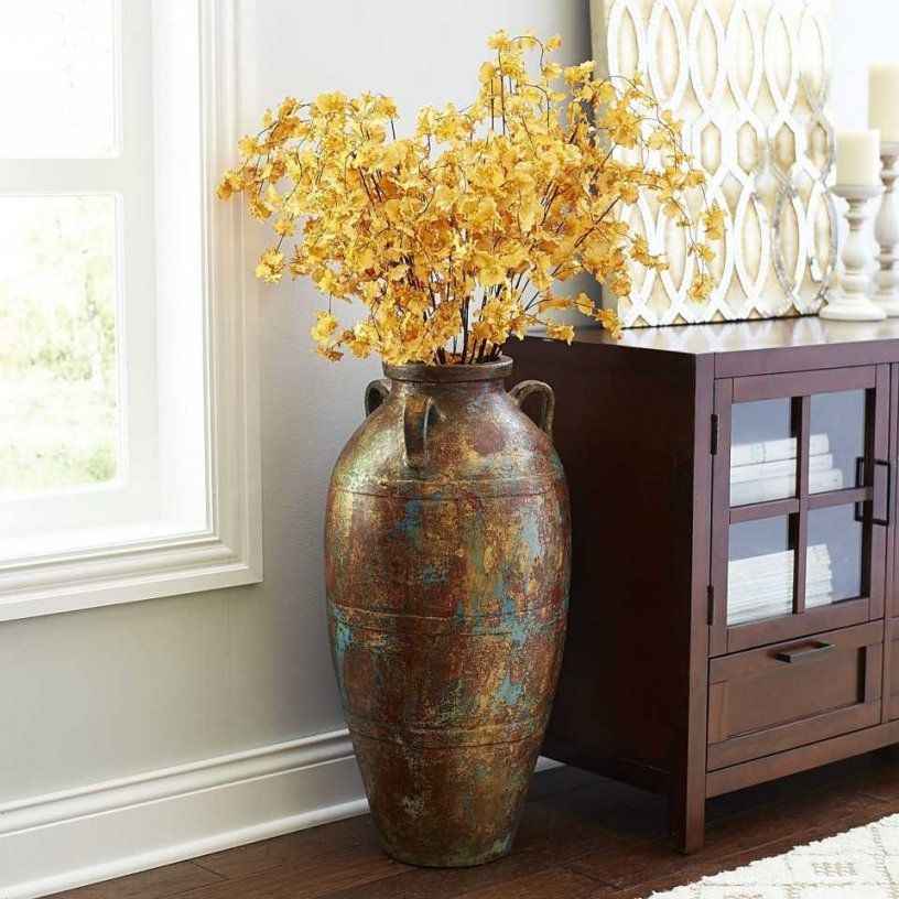 Inspiring Large Vase For Living Room Set A Paint Color Decoration von Giant Vases For The Floor Photo