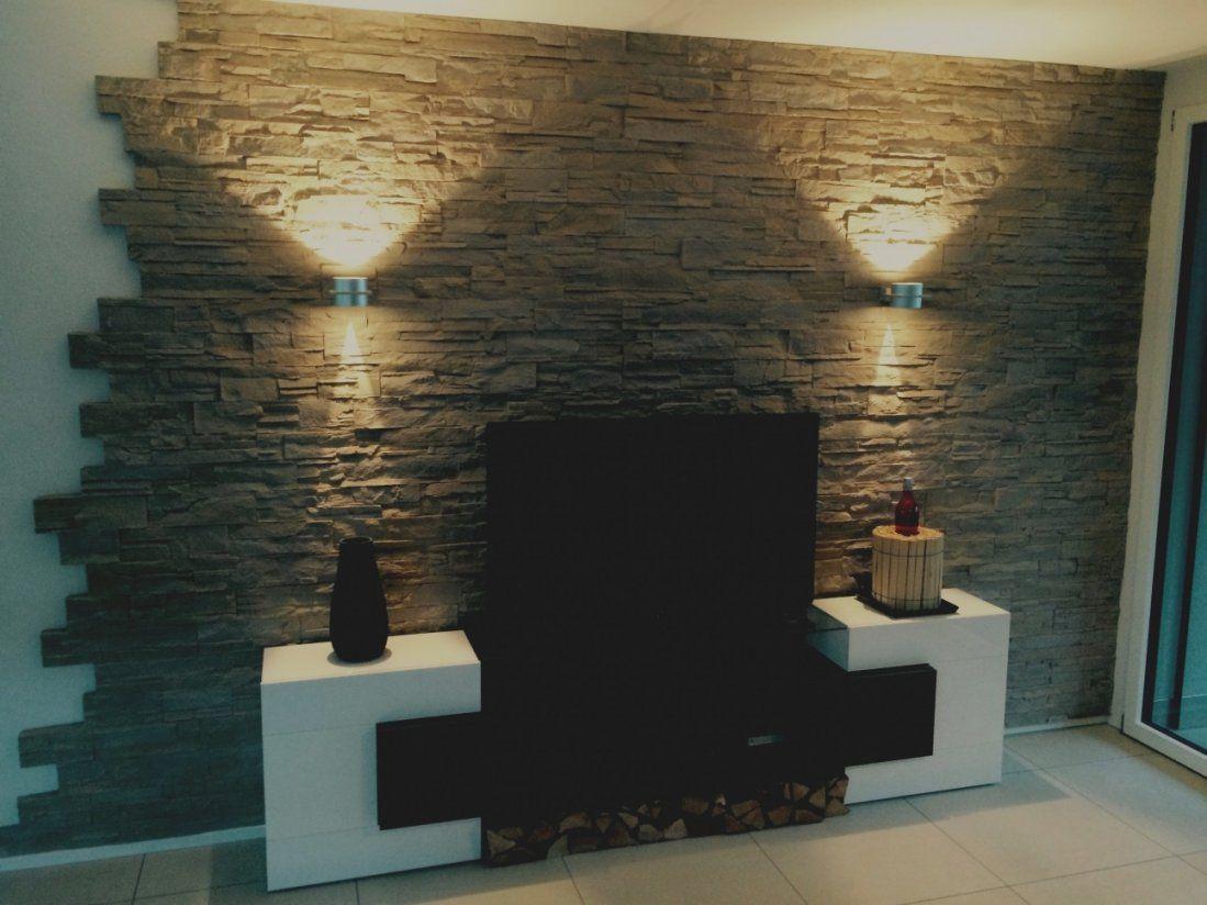Wand gestalten mit steinen