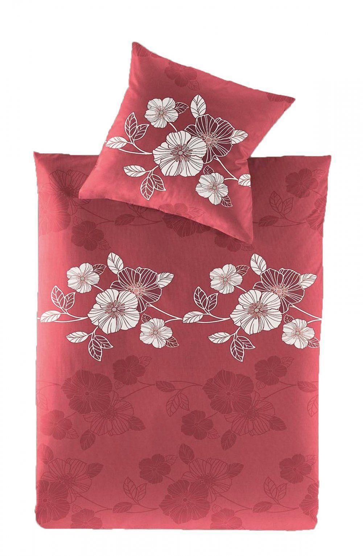 Irisette Flanell Biber Bettwäsche 155X220 + 80X80 Cm In Rot von Irisette Biber Bettwäsche Bild