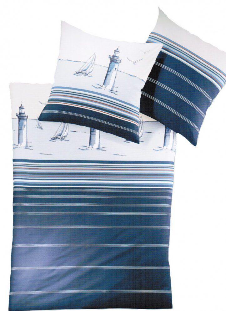 Irisette Makosatin Bettwäsche Leuchtturm Maritim 870520 von Bettwäsche Maritim 155X220 Bild