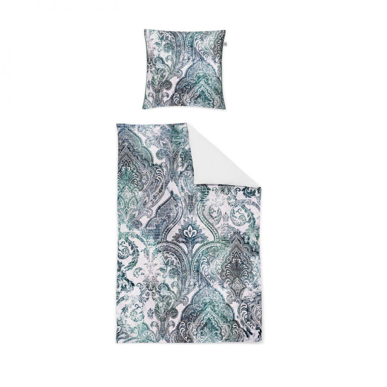 Irisette Makosatin Bettwäscheset In Farbe Blauweiß Um 41 von Bettwäsche Irisette Reduziert Bild