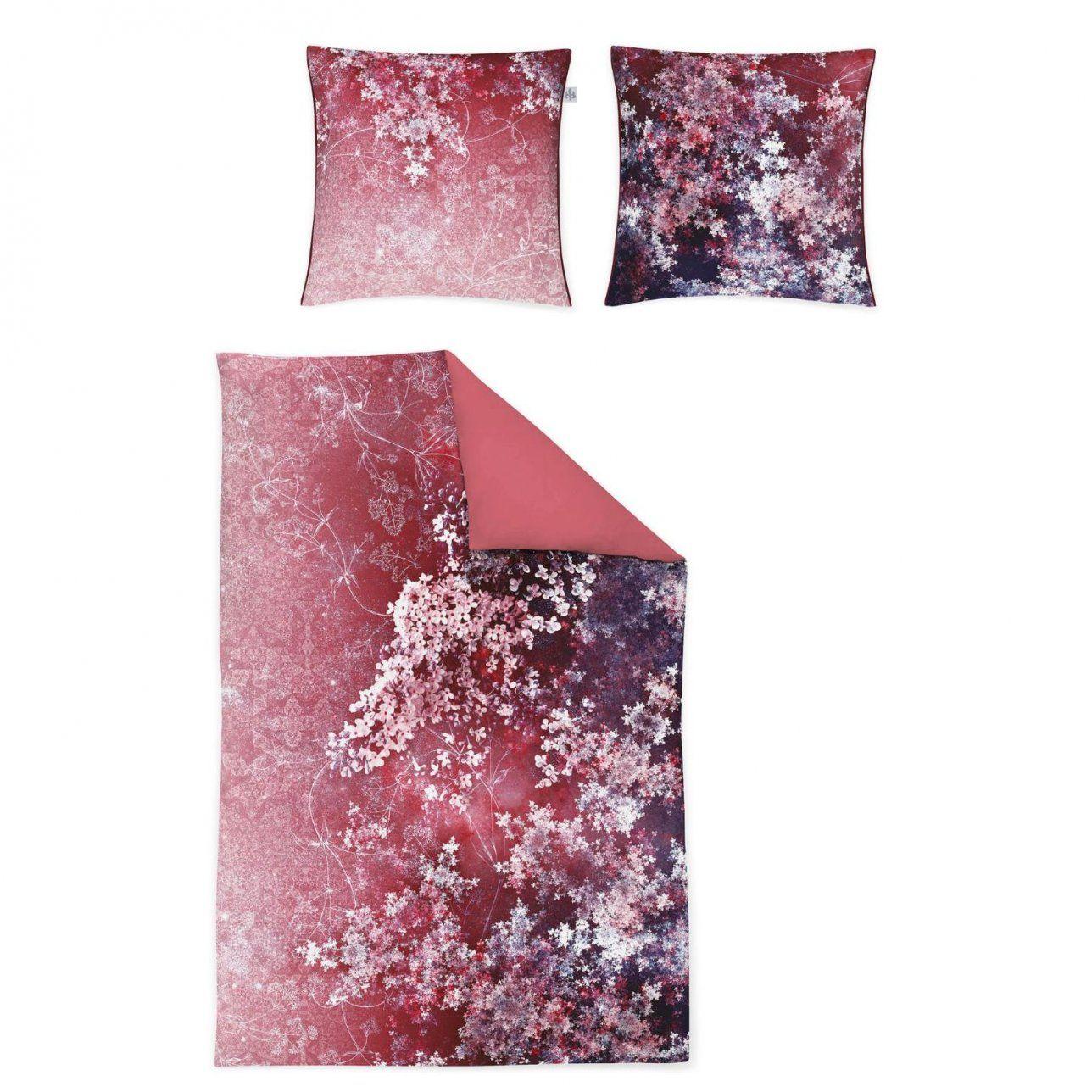 Irisette Makosatin Bettwäscheset In Farbe Rotweiß Um 46 von Irisette Bettwäsche Reduziert Photo