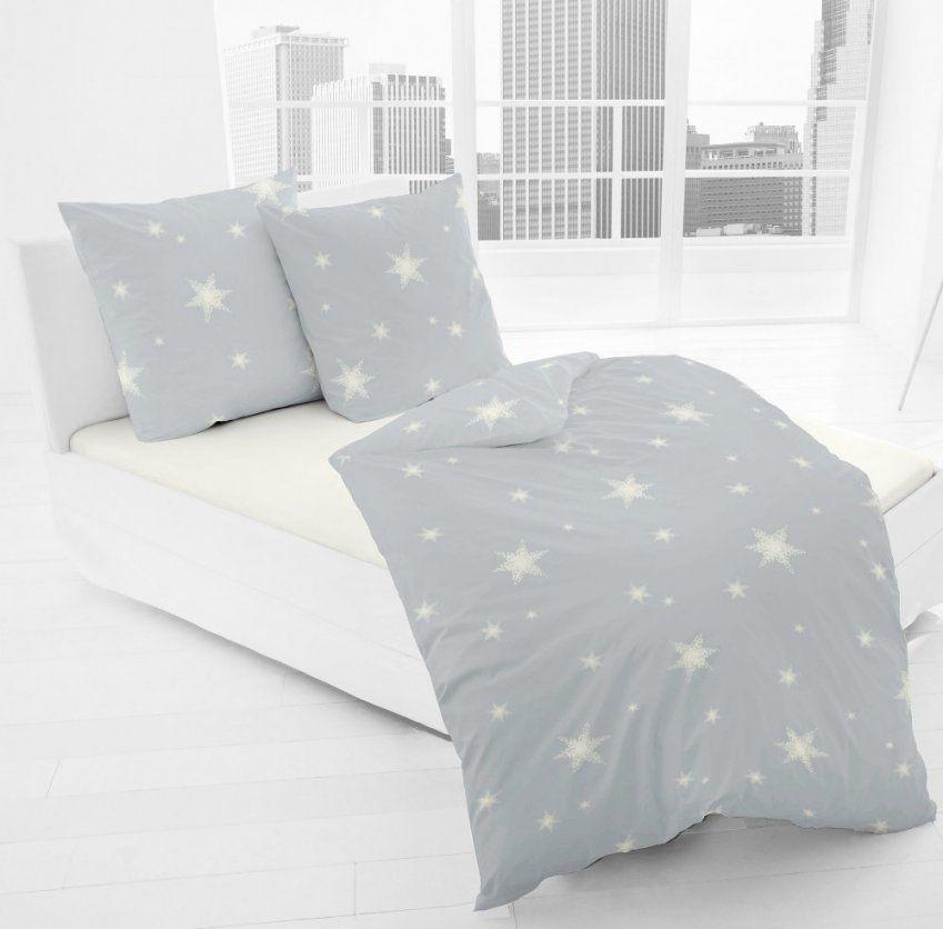 Jackdormisette Fein Biber Bettwäsche Stern Sterne Hellgrau Grau von Biber Bettwäsche Sterne Grau Bild