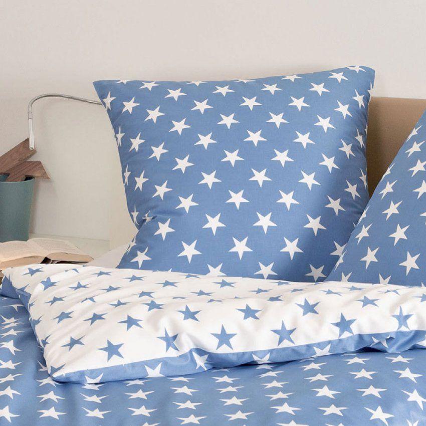 Janine Biber Bettwäsche Sterne Blau Günstig Online Kaufen Bei von Bettwäsche Kinder Sterne Photo