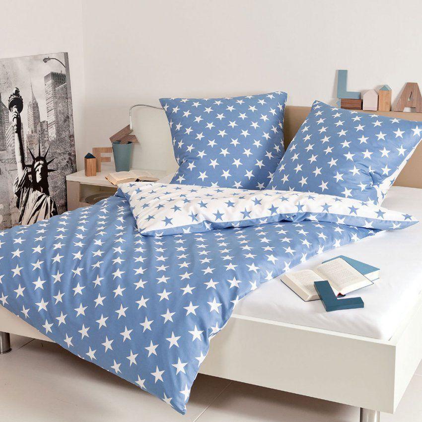 Janine Biber Bettwäsche Sterne Blau Günstig Online Kaufen Bei von Bettwäsche Mit Sternen 155X220 Photo