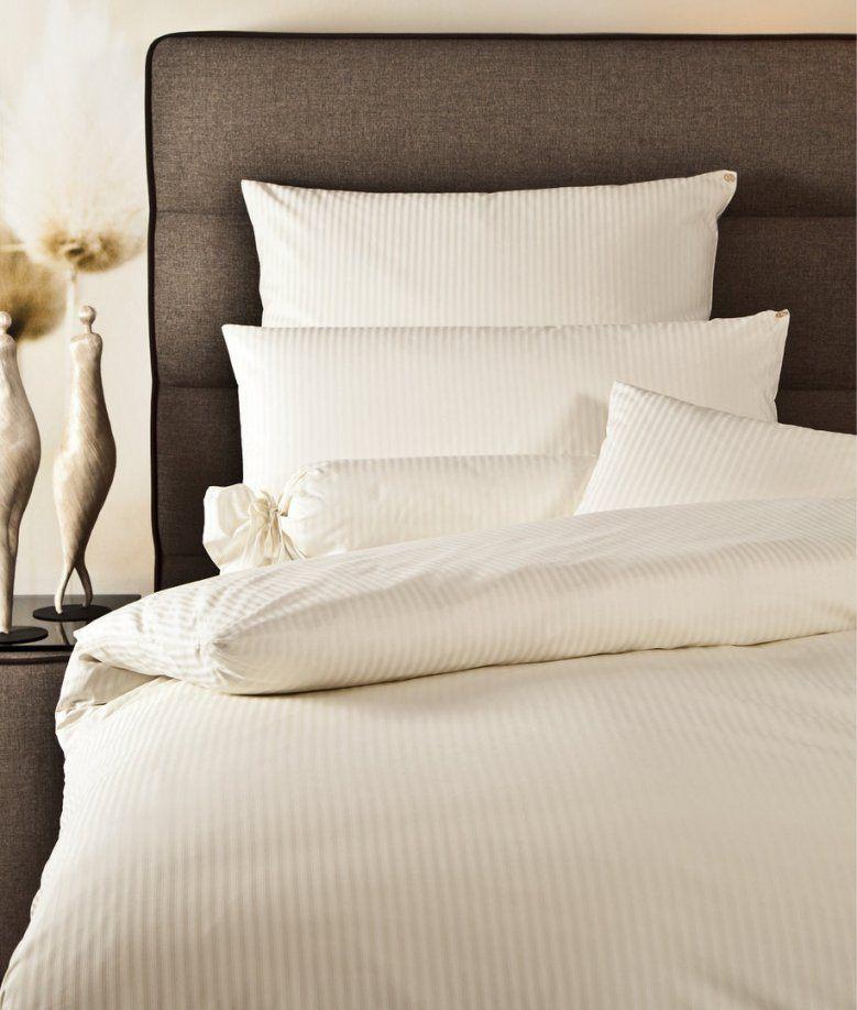Janine Mako Brokat Damast Bettwäsche Rubin Streifen Mit Zierfalte von Damast Bettwäsche Eigenschaften Bild