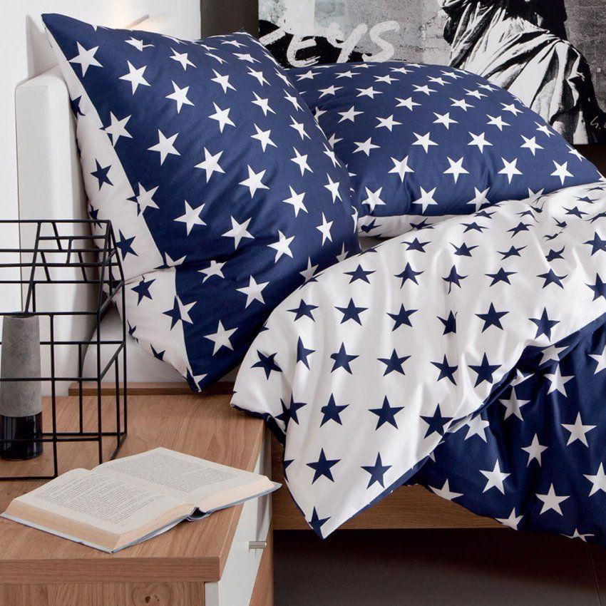 Janine Makosatin Bettwäsche Jd 846082 Sterne Marine Günstig von Janine Bettwäsche Sterne Photo