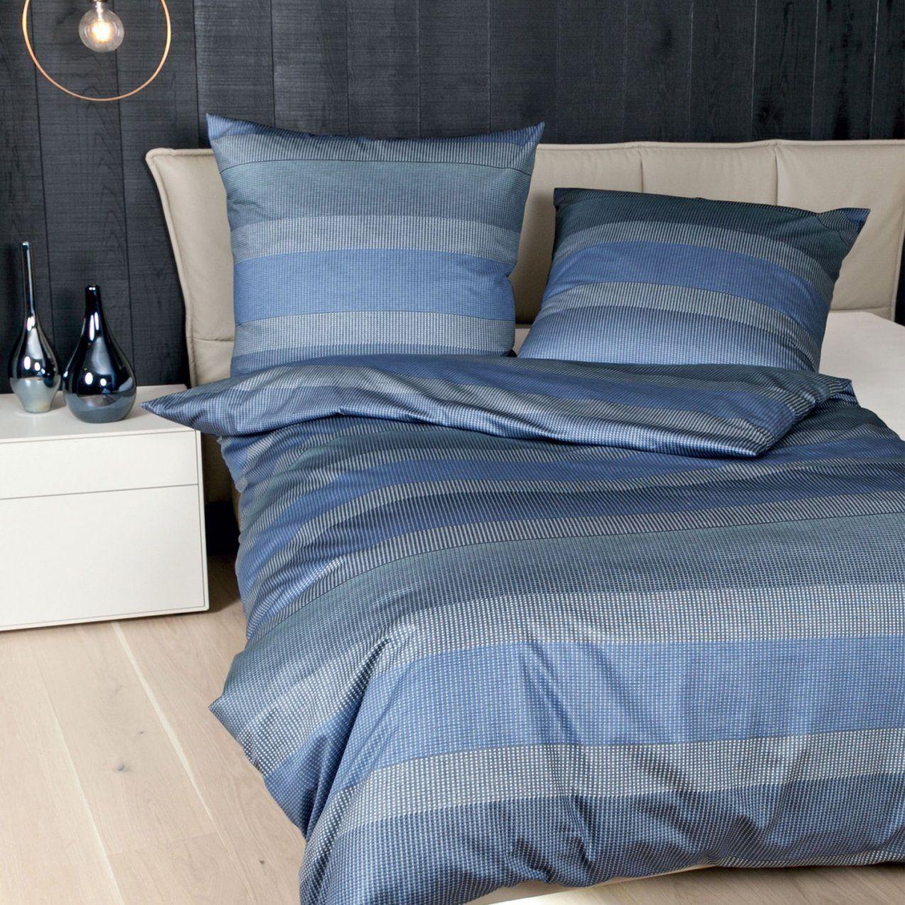 Janine Makosatin Bettwäsche Messina 477902 Blauaquasilber von Bettwäsche 200X200 Blau Bild