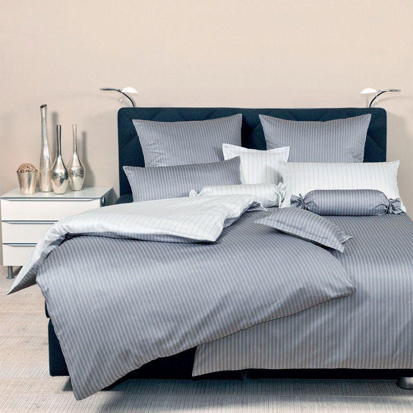 Janine Makosatin Bettwäsche Modern Classic Silber Günstig Online von Allergiker Bettwäsche Englisch Photo