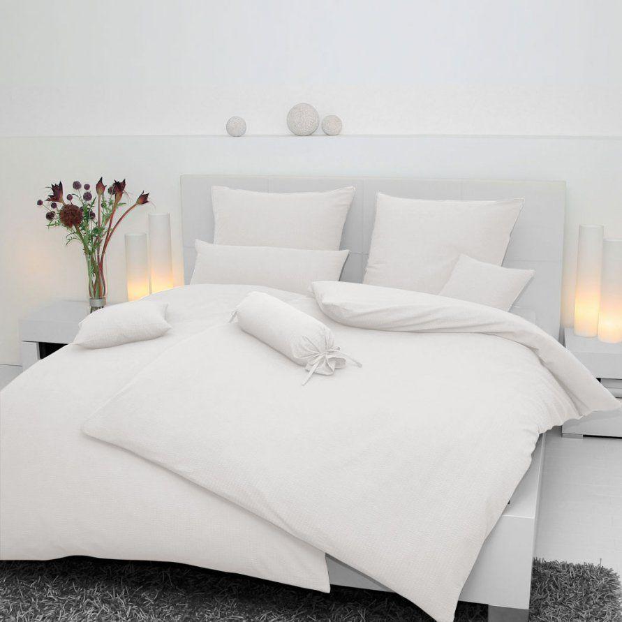 Janine Uni Jersey Bettwäsche Weiß 500710 Günstig Online Kaufen Bei von Jersey Bettwäsche 200X200 Bild