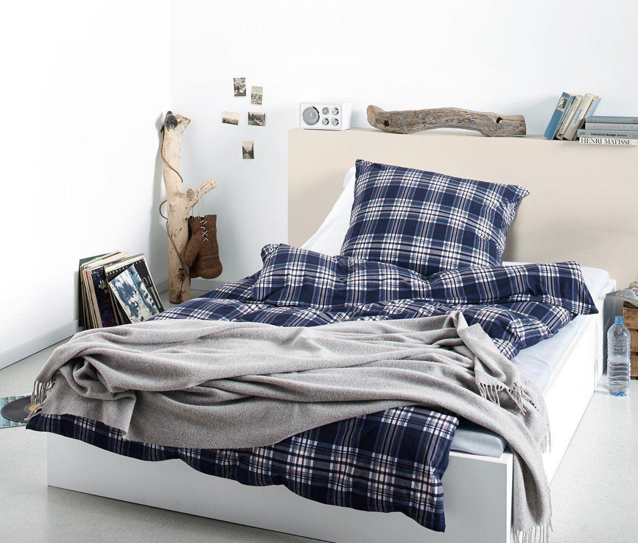 Jerseybettwäsche Blaues Karodessin Online Bestellen Bei Tchibo 309828 von Tchibo Bettwäsche Jersey Photo