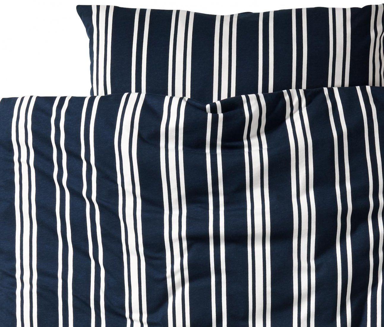 Jerseybettwäsche Blauweiß Gestreift Normalgröße Online Bestellen von Jersey Bettwäsche Tchibo Photo