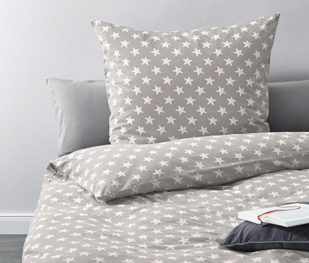 Jerseybettwäsche Grau Mit Sternenprint Online Bestellen Bei von Tchibo Bettwäsche Jersey Photo