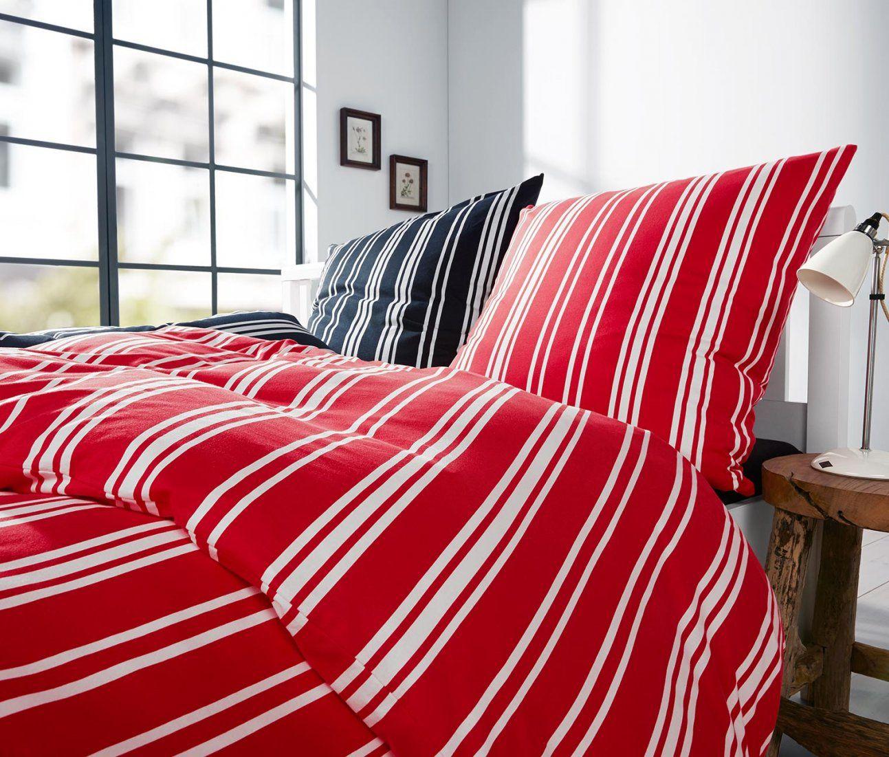 Jerseybettwäsche Rotweiß Gestreift Online Bestellen Bei Tchibo 309832 von Tchibo Bettwäsche Jersey Bild