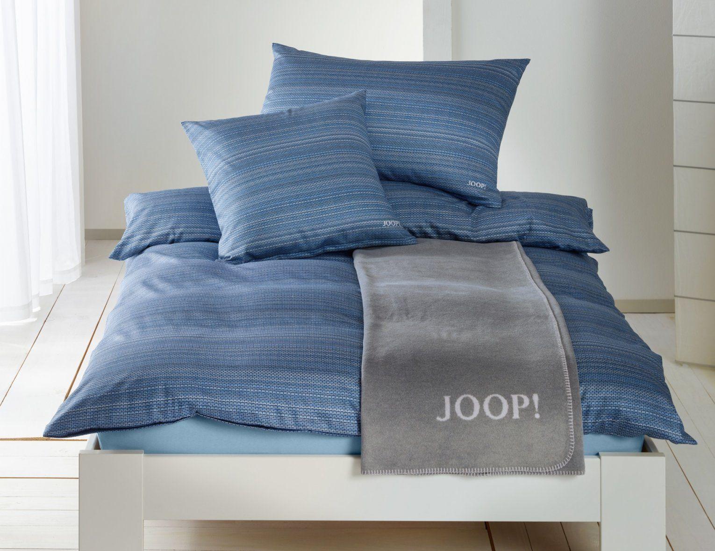Joop Bettwäsche Mit Feinen Streifen Günstig  Bettwaeschech von Joop Bettwäsche Weiß Photo