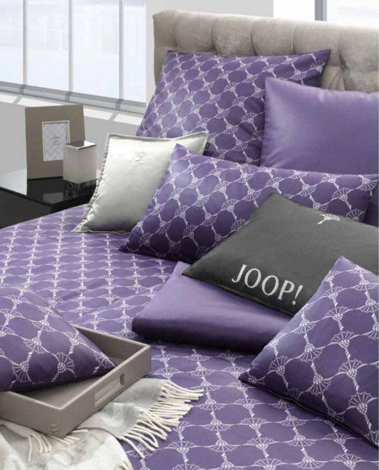 Joop Cornflower Mako Satin Bettwäsche Violett 55 Boudoir Von Joop