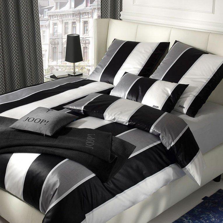 joop lines mako satin bettw sche schwarz wei 00 boudoir. Black Bedroom Furniture Sets. Home Design Ideas