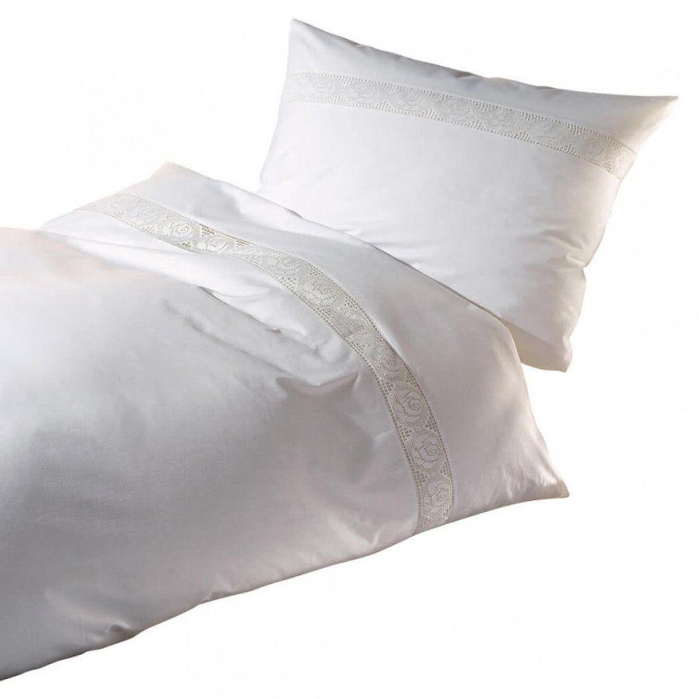 Kaeppel Bettwäsche Spitze Weiß ᐅ Dormando von Bettwäsche Weiß Spitze Bild