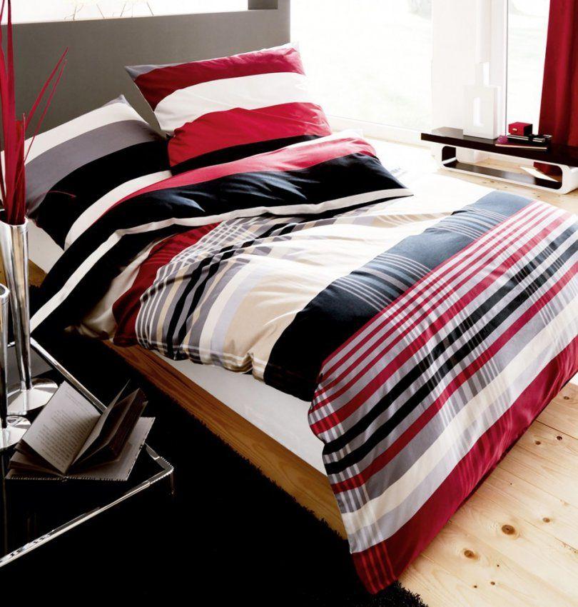 Kaeppel Biber Bettwäsche Prime Time Rot Schwarz Streifen Weiß Öko von Schwarz Weiß Gestreifte Bettwäsche Photo
