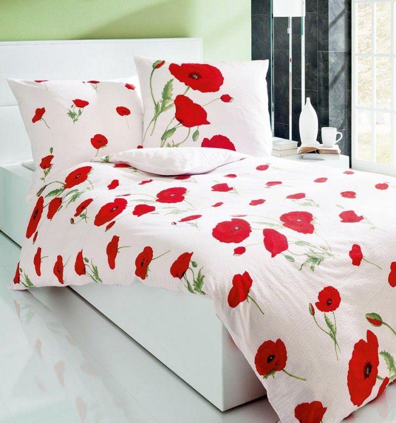 Kaeppel Seersucker Bettwäsche 135 X 200Cm Papavero Mohn Weiß Rot von Kaeppel Bettwäsche Mohnblume Bild