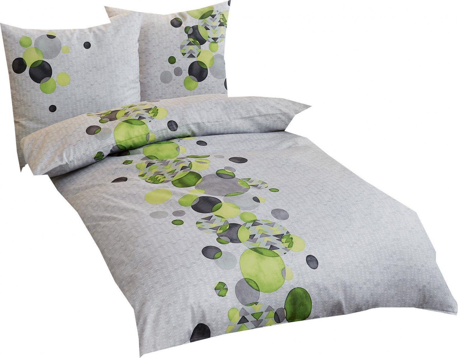 Kaeppel Sweet Home Mako Satin Bettwäsche Global Größe 155X220+80X80 von Satin Bettwäsche Grün Bild