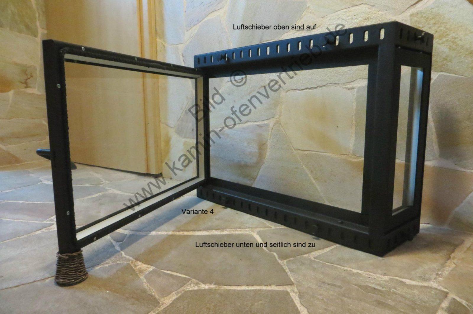 Kamintüren Kamintür Für Offenen Kamin Mit Glas  Sichtfenster Und von Funkenschutz Aus Glas Für Offenen Kamin Bild