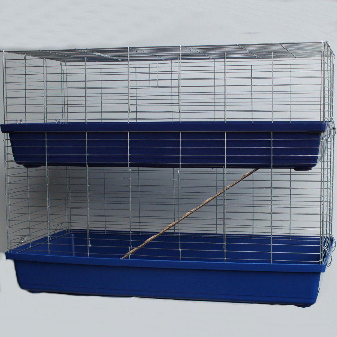 Kaninchenkäfig Doppelstöckig 120  Wie Man Den Richtigen von Kaninchenkäfig Für Die Wohnung Bild