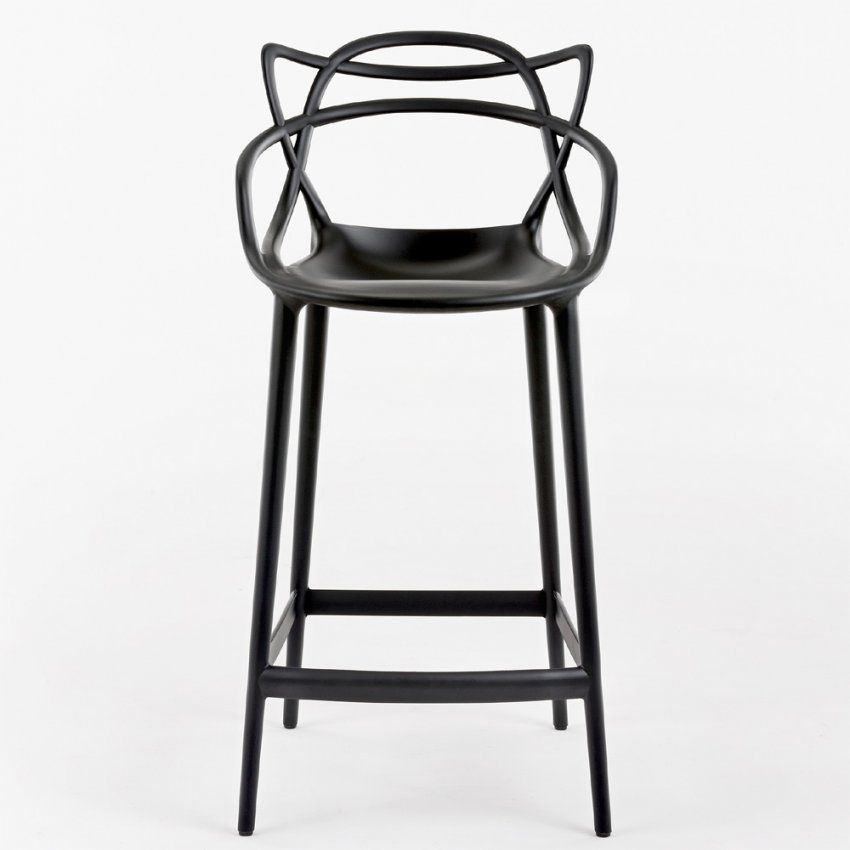 Kartell Masters Stool Barhocker Schwarz Sitzhöhe 75 Cm Philippe Starck von Hocker Sitzhöhe 60 Cm Bild