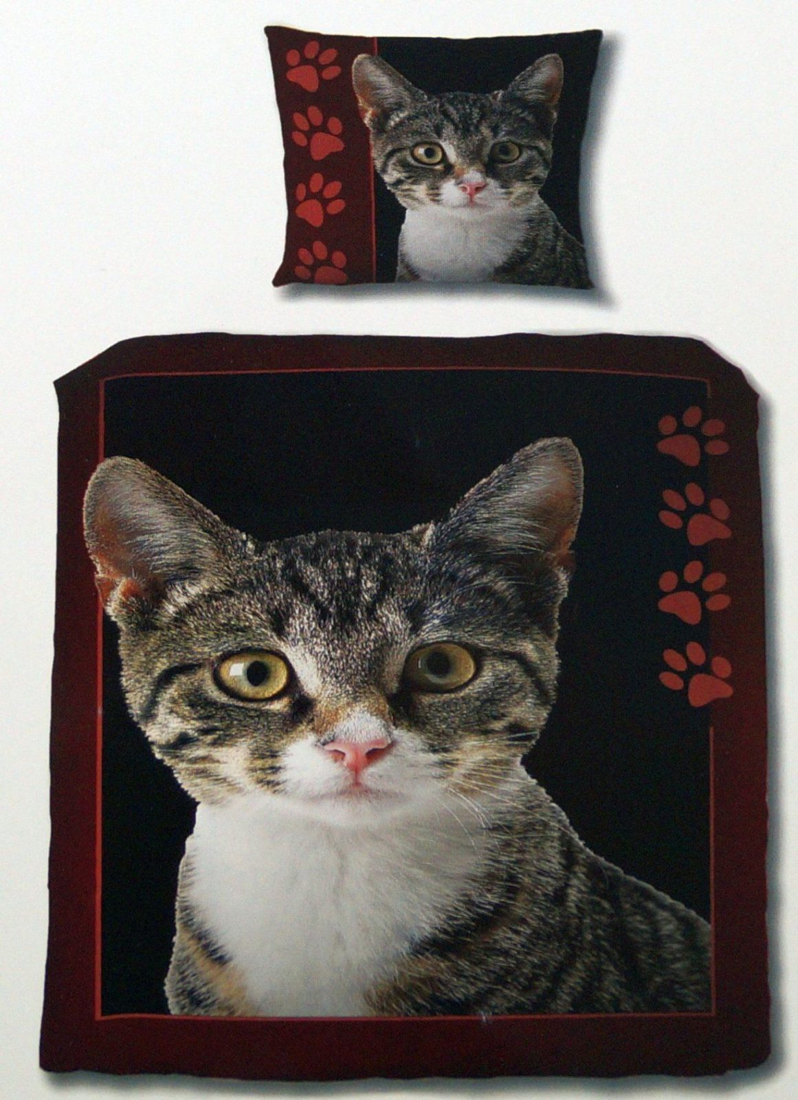 Katzen Fotodruck Bettwäsche 100 % Baumwolle Renforce 135 X 200 Cm von Bettwäsche Katzenmotiv Fotodruck Photo