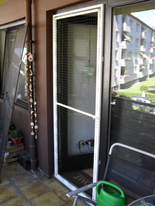 Katzennetz Balkontür Ohne Bohren  Veri  Pinterest  Katzennetz von Sichtschutz Balkontür Ohne Bohren Bild