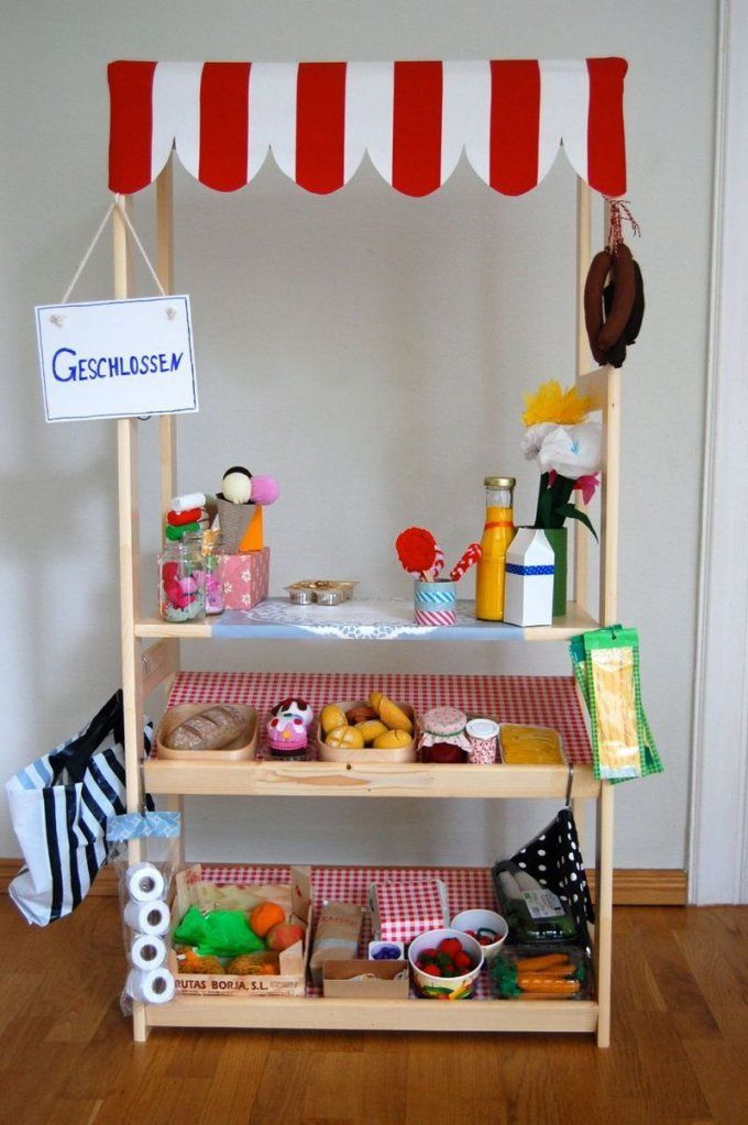 Kaufladen Marktstand Kaufmannsladen Selber Bauen Selbst Gebaut Diy von Kinder Kaufladen Selber Bauen Photo