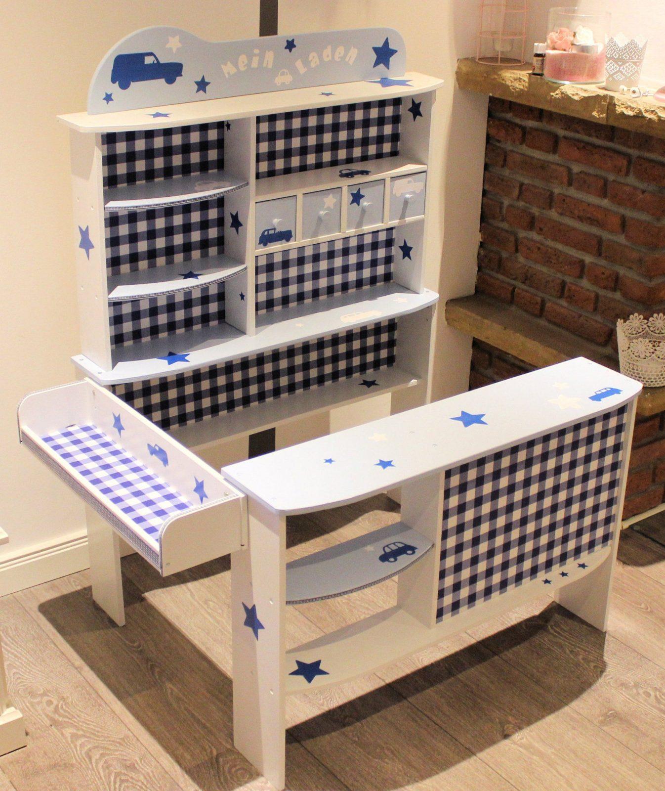 Kaufladen Weiß Blau Kaufladen Und Kinderküche Pinterest Avec Kinder von Kinder Kaufladen Selber Bauen Photo
