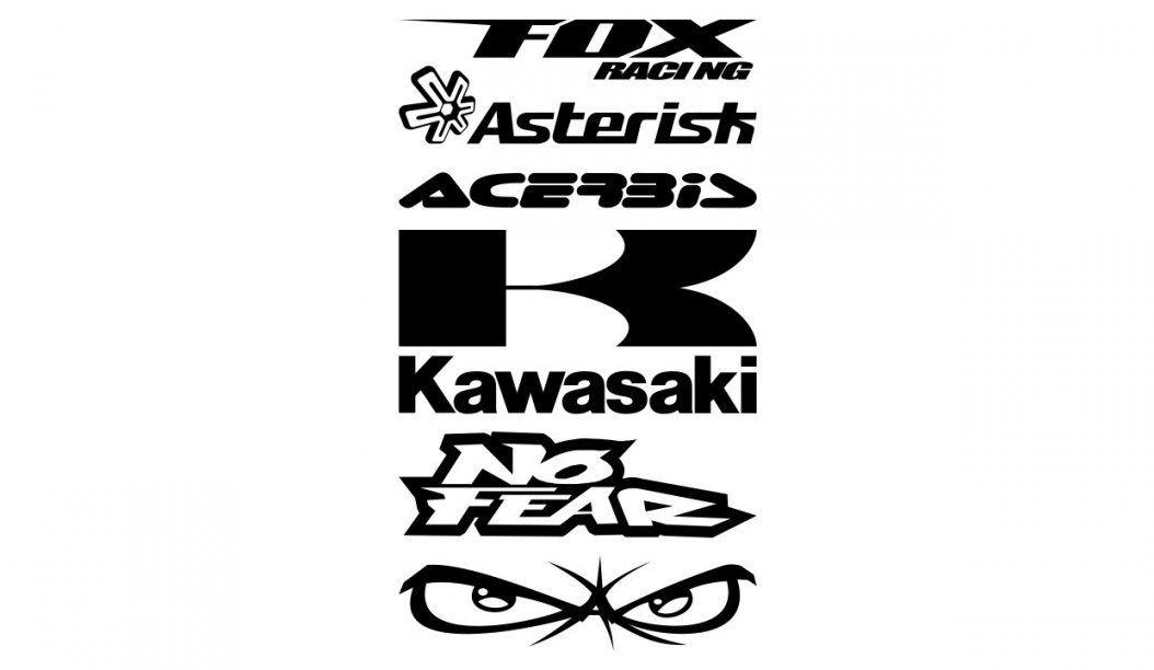 Kawasaki Aufkleber Und Kawasaki Sticker  Wraparts von Motorradhelm Aufkleber Selbst Gestalten Bild
