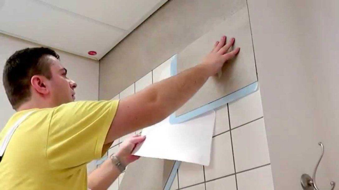 Kein Fliesen Streichen Mehr  Youtube von Hässliche Bad Fliesen Überkleben Photo