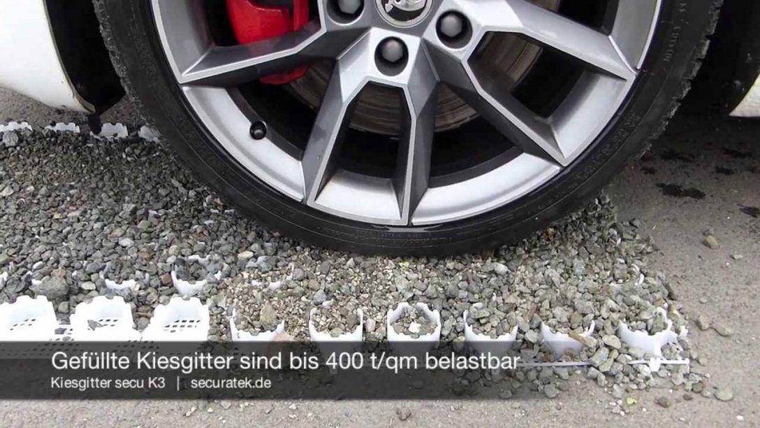 Kiesgitter Secu K3  Bodenwabe Zur Stabilisierung Von Kies Schotter von Garagenzufahrt Gestalten Mit Kies Oder Schotter Photo