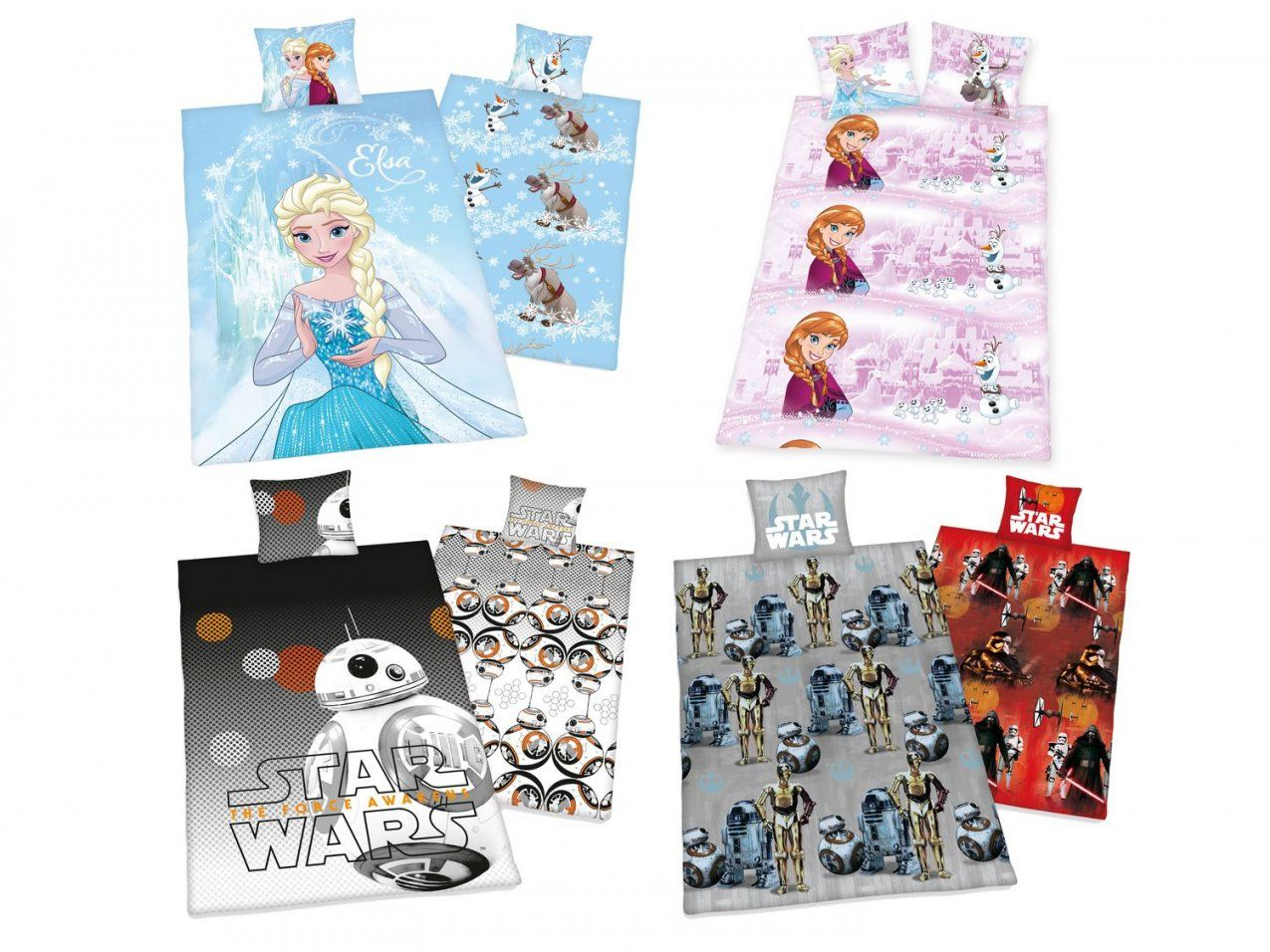 Kinder Fleece Wende Bettwäsche Eiskönigin Star Wars Dragons Hello von Hello Kitty Bettwäsche Lidl Bild