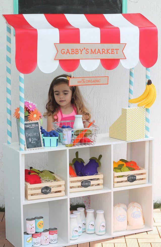Kinder Kaufladen Selber Bauen  10 Ideen Fürs Beliebte Spielzeug von Kinder Kaufladen Selber Bauen Bild