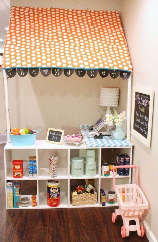 Kinder Kaufmannsladen Zu Hause  Kinderzimmer Ideen  Pinterest  Zu von Kinder Kaufladen Selber Bauen Bild