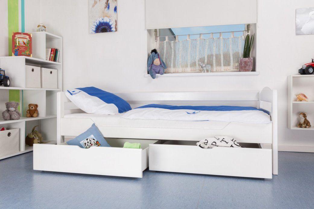 """Kinderbett  Jugendbett """"easy Möbel"""" K1Ns Inkl 2 Schubladen Und 2 von Kinderbett Weiss Mit Schublade Bild"""