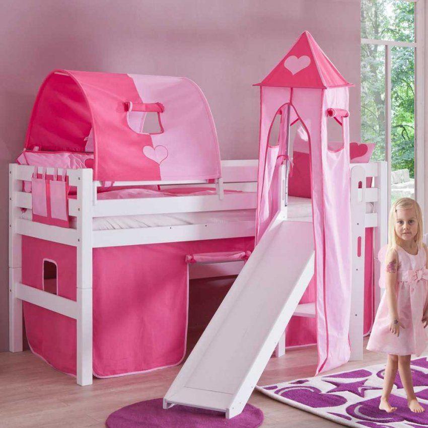 Kinderbett Vivy Für Mädchen Mit Rutsche  Pharao24 von Kinderhochbett Mit Rutsche Günstig Kaufen Photo