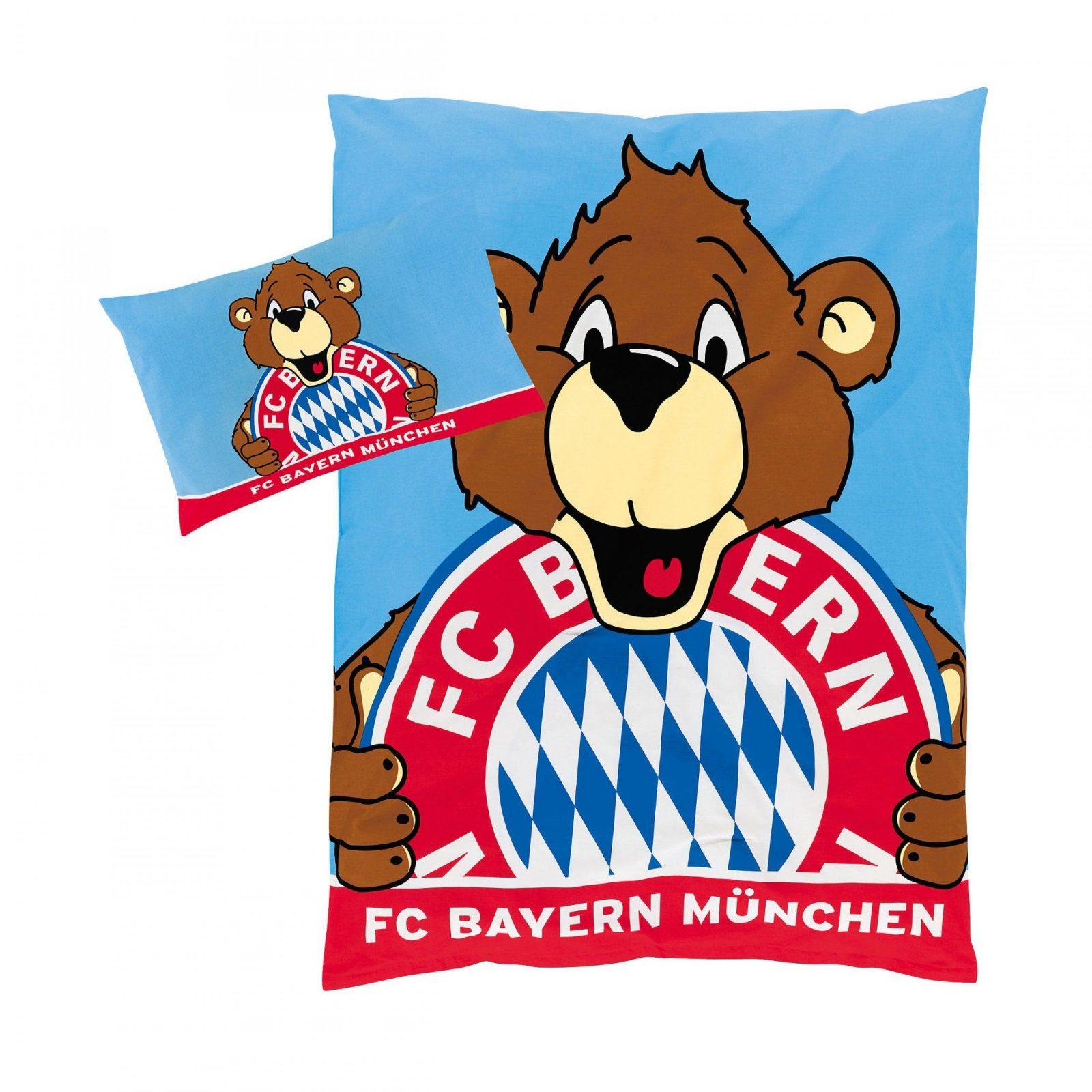 Kinderbettwäsche Berni  Offizieller Fc Bayern Fanshop von Fc Bayern Bettwäsche Biber Photo