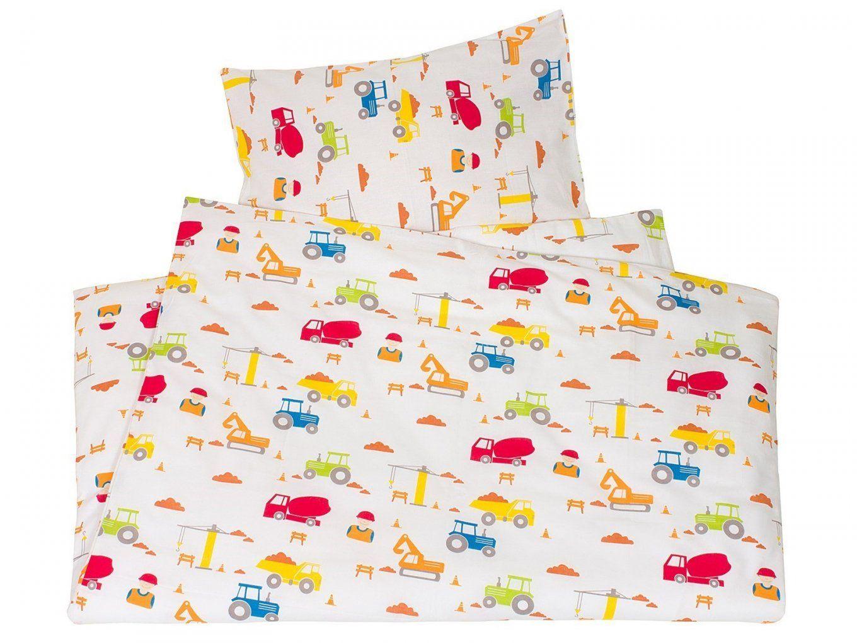 Kinderbettwäsche Biobaumwolle Baustelle Von We Love Nature  Hans von Kinderbettwäsche 100X135 Bio Bild