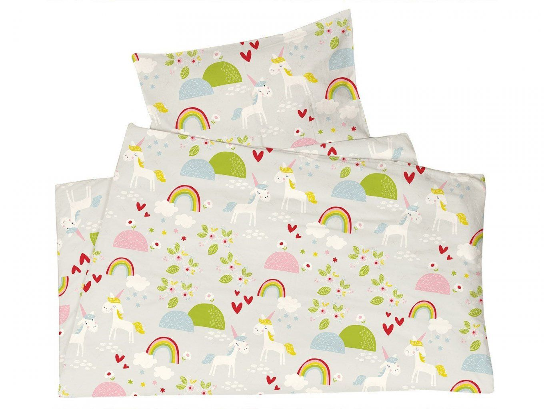 Kinderbettwäsche Biobaumwolle Jersey Einhörner Von We Love Nature von Kinderbettwäsche 100X135 Bio Bild