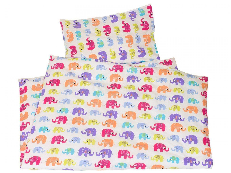 Kinderbettwäsche Biobaumwolle Jersey Elefanten Von We Love Nature von Kinderbettwäsche 100X135 Bio Bild