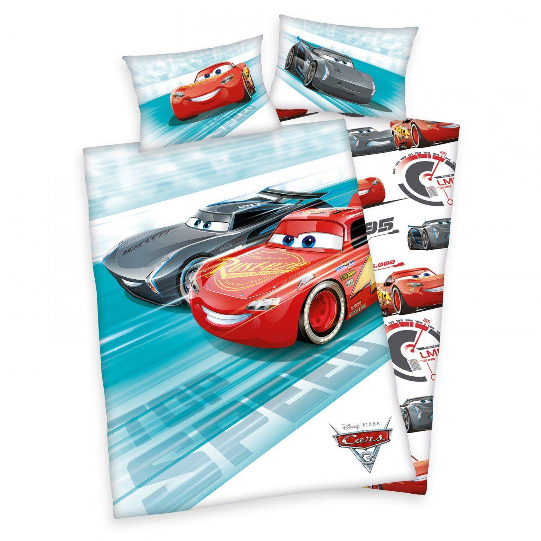 Kinderbettwäsche Cars 3  Wendemotiv 100X135 Cm  Kinderbettwäsche von Cars Bettwäsche 100X135 Bild