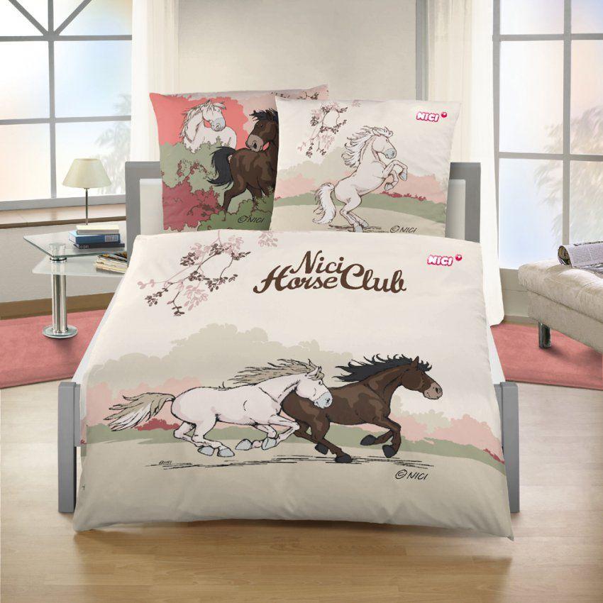Kinderbettwäsche Garnitur 2Teilig Nici Garnitur Pferde Gr 135 X von Kinderbettwäsche Mit Pferden Photo