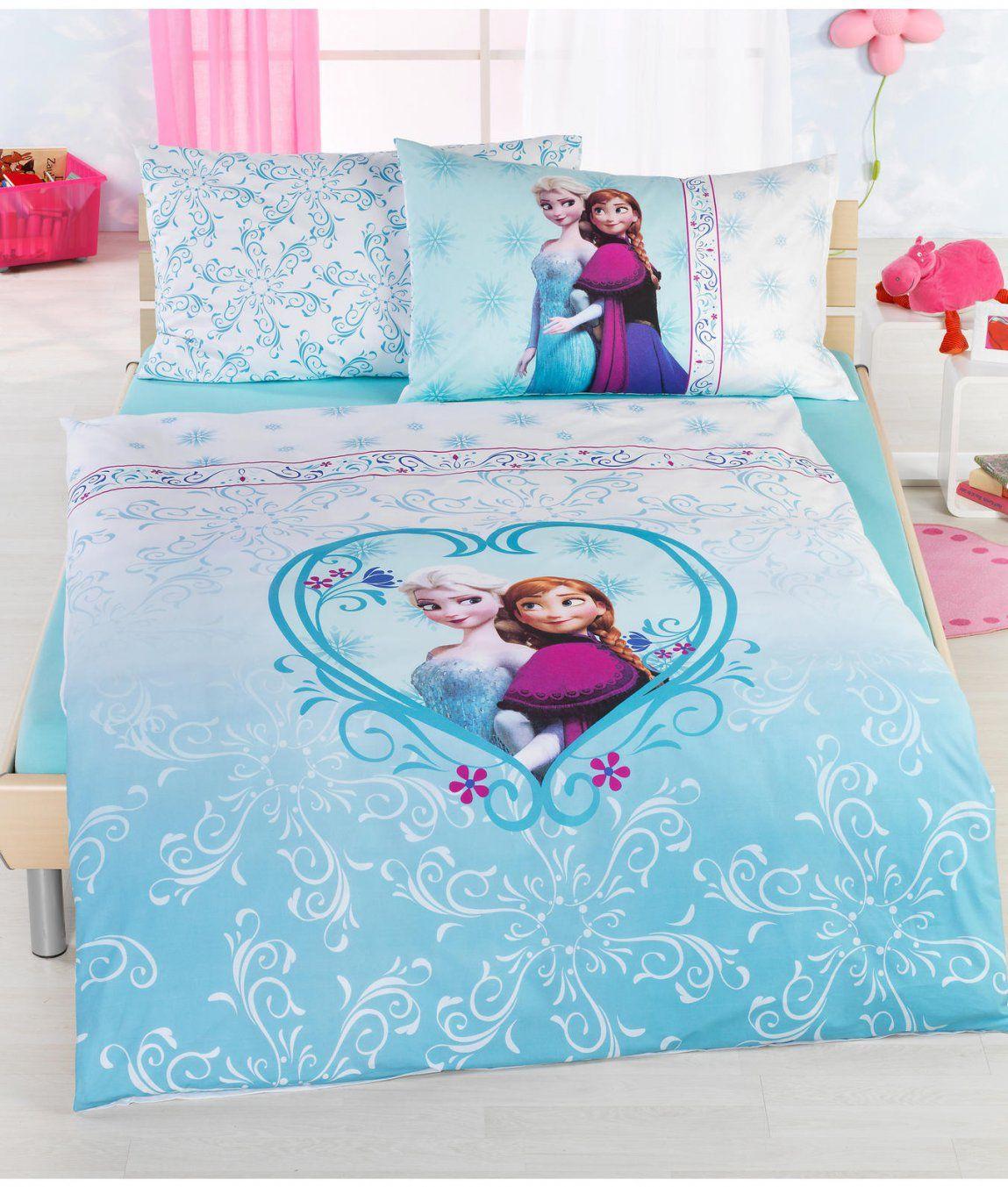 Kinderbettwäsche Garnitur Eiskönigin Kaufen  Angela Bruderer von Kinderbettwäsche Die Eiskönigin Bild