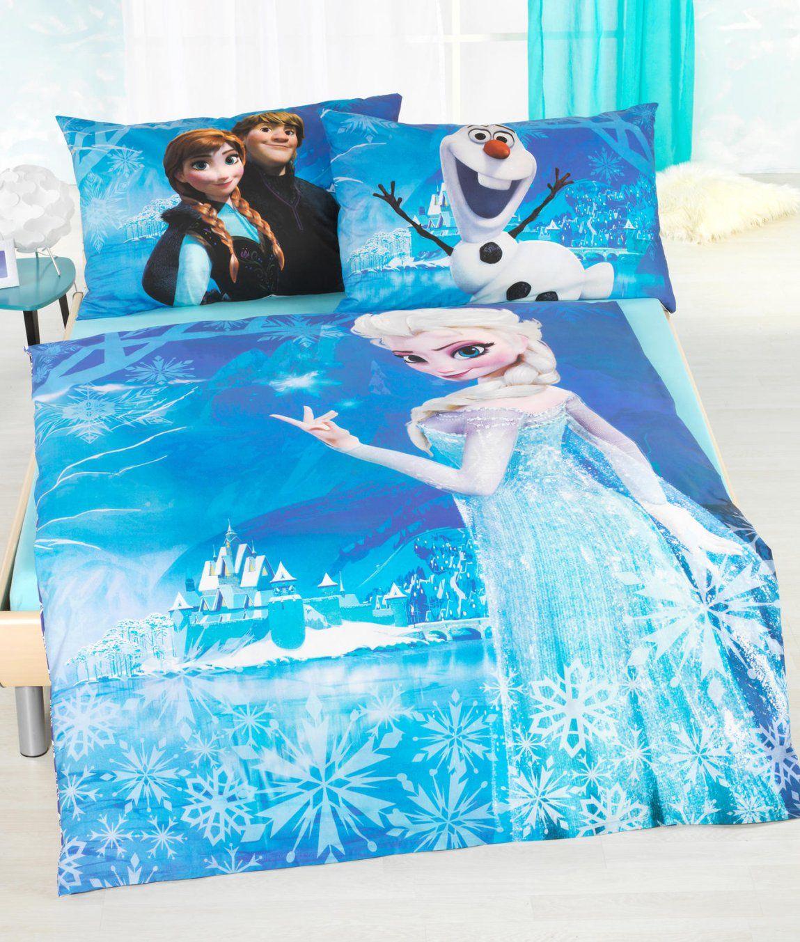 Kinderbettwäsche Garnitur Frozen Kaufen  Angela Bruderer Onlineshop von Bettwäsche Eiskönigin Aldi Photo