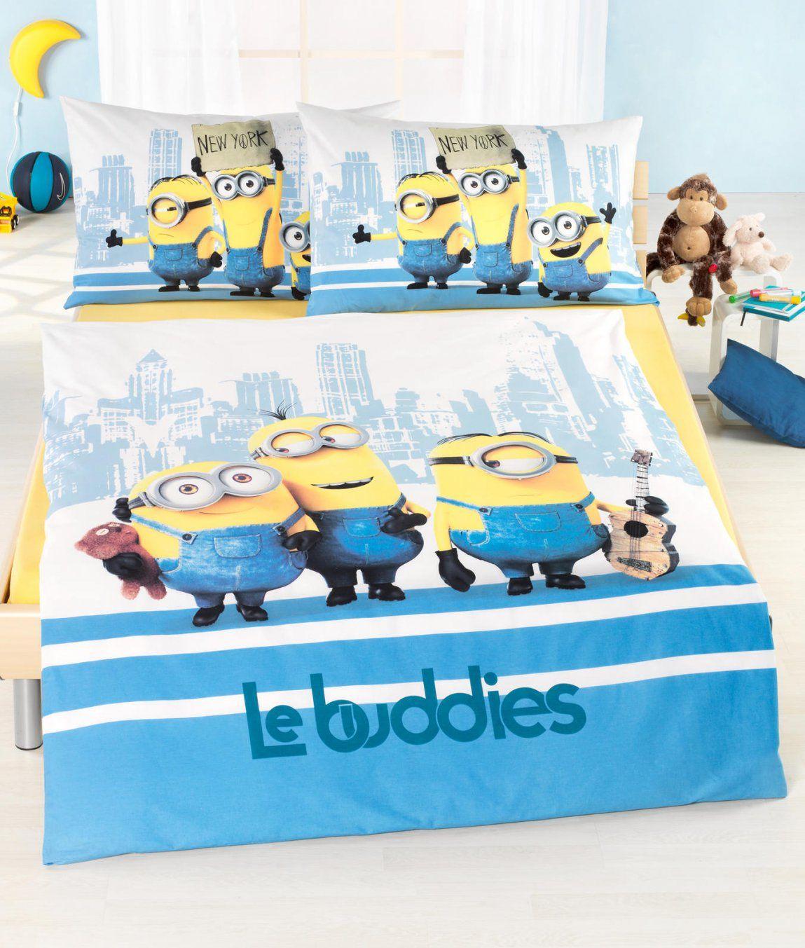 Kinderbettwäsche Garnitur Minions Le Buddies Kaufen  Angela von Minions Bettwäsche Real Bild